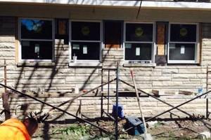 Photo #1: Masonry repairs!