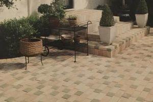 Photo #6: Instilation of interlock brick pavers and ceramic tile