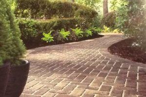 Photo #4: Instilation of interlock brick pavers and ceramic tile
