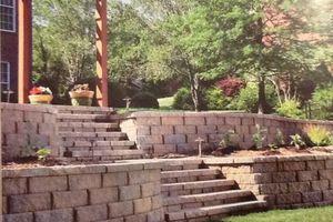 Photo #2: Instilation of interlock brick pavers and ceramic tile