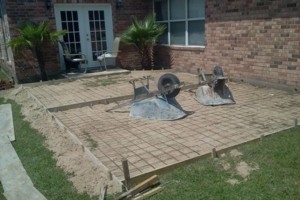 Photo #3: Concrete work (get rid of the mud)