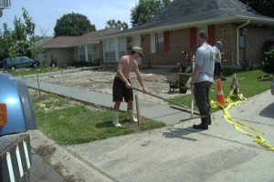 Photo #1: Concrete work (get rid of the mud)