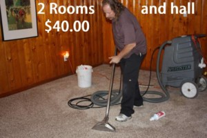 Photo #5: Carpet Cleaning - 2 Rooms & Hall $40.00