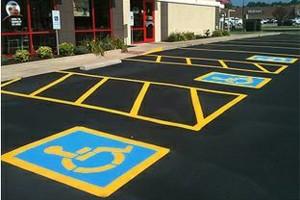 Photo #1: Parking Lot Striping-Full Pavement & Concrete Refinish