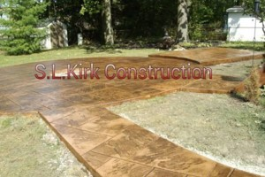 Photo #20: Decorative Stamped Concrete. S.L.Kirk construction