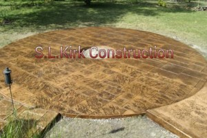Photo #19: Decorative Stamped Concrete. S.L.Kirk construction