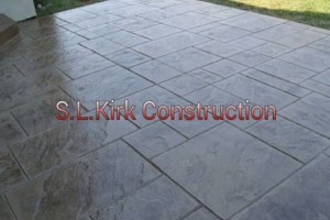 Photo #17: Decorative Stamped Concrete. S.L.Kirk construction