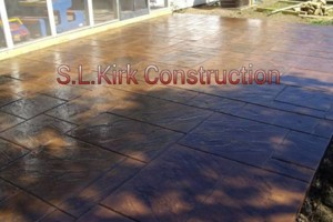 Photo #16: Decorative Stamped Concrete. S.L.Kirk construction