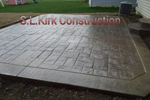 Photo #1: Decorative Stamped Concrete. S.L.Kirk construction