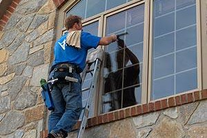 Photo #1: Window cleaning services. Call today!