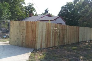 Photo #2: Chain link /Wooden fence