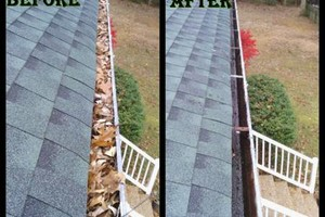 Photo #2: LEAF REMOVAL AND GUTTER CLEANING