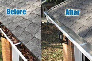 Photo #2: Get Happy! Clean Gutters Starting at $65 with Before and After Pics