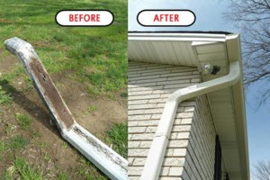 Photo #6: EAGLE SEAMLESS GUTTERS PLUS. Gutter Cleaning