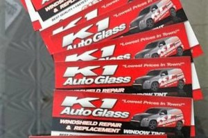 Photo #1: K1 AUTO GLASS. Windshield-Door Glass-Back Glass