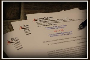 Photo #1: Southeast Spanish, Inc.. Certificate Translation for USCIS