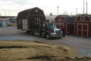 Photo #2: Shed movers, portable buildings, Mover