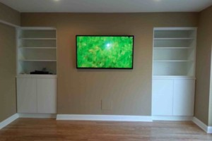 Photo #4: Home Theater system installation - TV on-wall like picture, hide wires