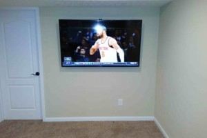 Photo #3: Home Theater system installation - TV on-wall like picture, hide wires