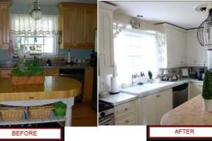 Photo #7: Kitchen & bathroom cabinet refinishing & painting