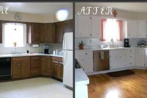 Photo #6: Kitchen & bathroom cabinet refinishing & painting