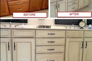 Photo #5: Kitchen & bathroom cabinet refinishing & painting