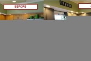Photo #4: Kitchen & bathroom cabinet refinishing & painting