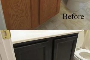 Photo #3: Kitchen & bathroom cabinet refinishing & painting