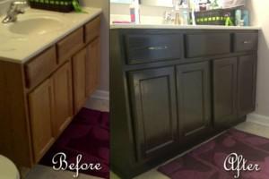 Photo #2: Kitchen & bathroom cabinet refinishing & painting