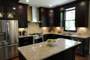 Photo #1: Kitchen & bathroom cabinet refinishing & painting