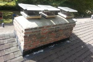 Photo #1: Chimney Repair cap replacement
