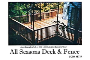Photo #13: ALL SEASONS DECK AND FENCE. CHAIN LINK fence