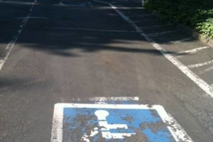 Photo #8: ASPHALT SEALCOATING, CRACK SEALING, STRIPING