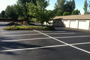 Photo #4: ASPHALT SEALCOATING, CRACK SEALING, STRIPING
