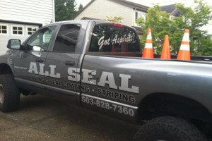 Photo #3: ASPHALT SEALCOATING, CRACK SEALING, STRIPING