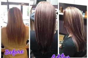 Photo #2: Hair by Addie. Color correction $100-$150 per great