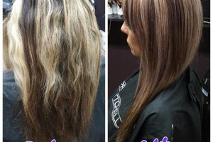 Photo #1: Hair by Addie. Color correction $100-$150 per great