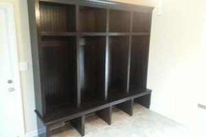Photo #3: CJ's Custom Cabinetry LLC. Mudroom locker cabinetry
