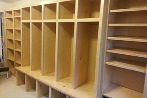 Photo #1: CJ's Custom Cabinetry LLC. Mudroom locker cabinetry