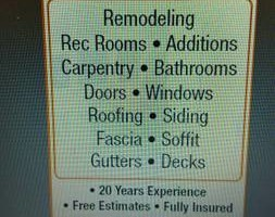 Photo #1: Jon's Home Improvements - Remodeling, Additions, Roofing, Windows, Siding