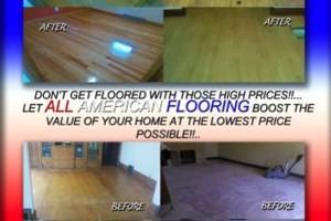 Photo #1: All American flooring. RENEW YOUR HARDWOOD FLOORS!