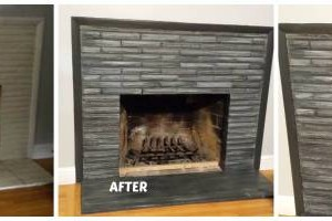Photo #17: Faux Stone, Marble, Wood finishes for your fireplace and more