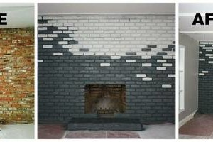 Photo #12: Faux Stone, Marble, Wood finishes for your fireplace and more