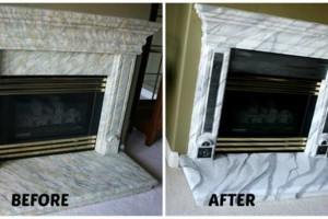 Photo #10: Faux Stone, Marble, Wood finishes for your fireplace and more