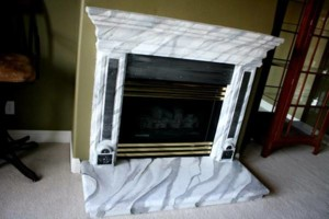 Photo #6: Faux Stone, Marble, Wood finishes for your fireplace and more