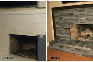 Photo #5: Faux Stone, Marble, Wood finishes for your fireplace and more