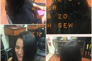 Photo #1: Weaves, extension, relaxers, updo's and more