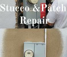 Photo #17: $250 stucco repair, redash, acoustic removal, paint