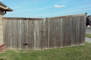 Photo #7: Fence stain and build by Scott