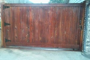 Photo #9: Fence stain and build by Scott